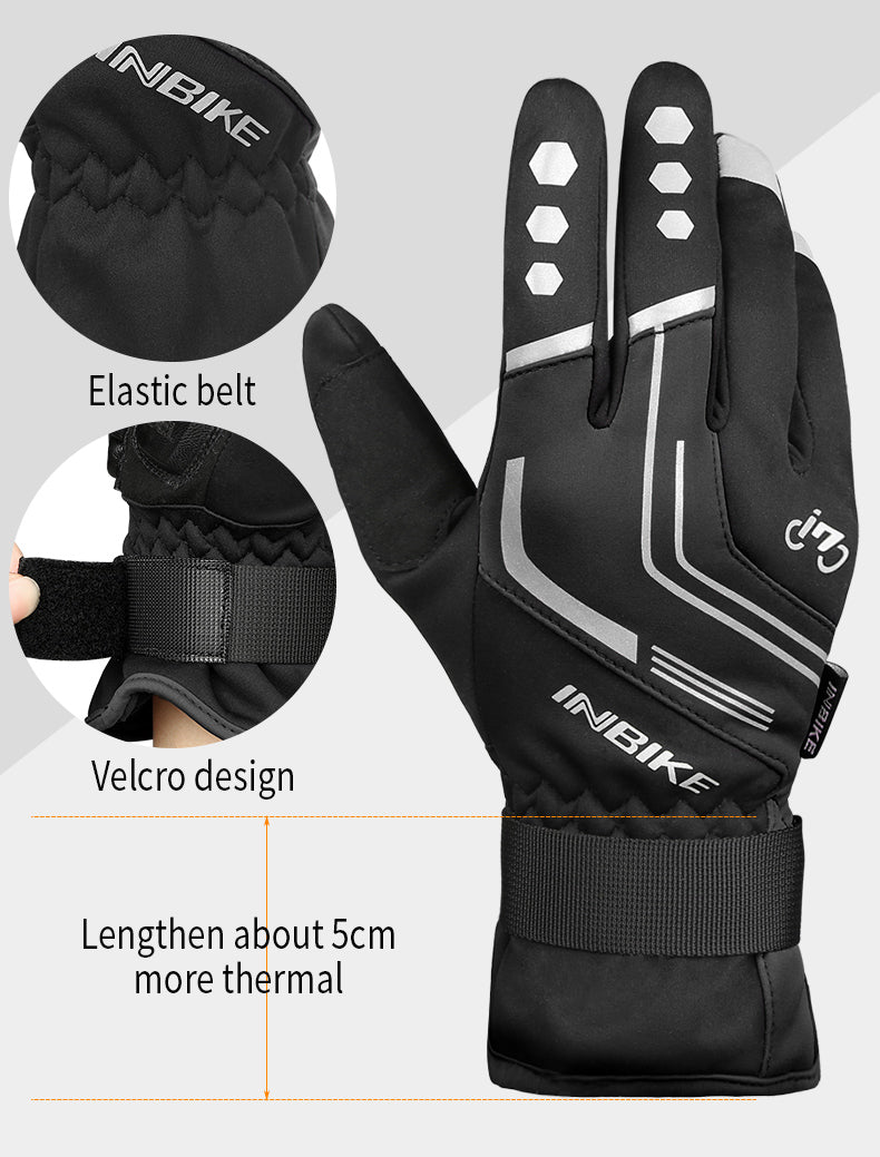 INBIKE Windproof Thermal Glove for Winter Cycling