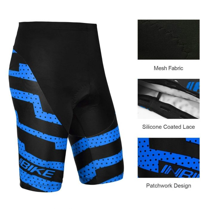 details of INBIKE men's bicycle shorts