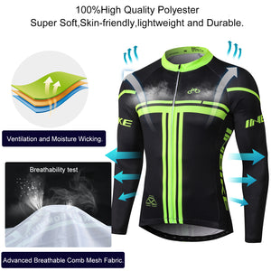 breathable fabric of cycling jersey
