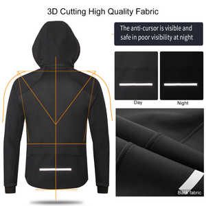 Men's Windproof Thermal Cycling Jacket with Detachable Hood
