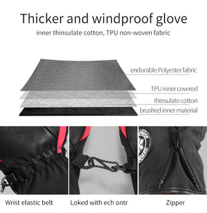 Winter Waterproof Skiing Mittens for Man and Woman