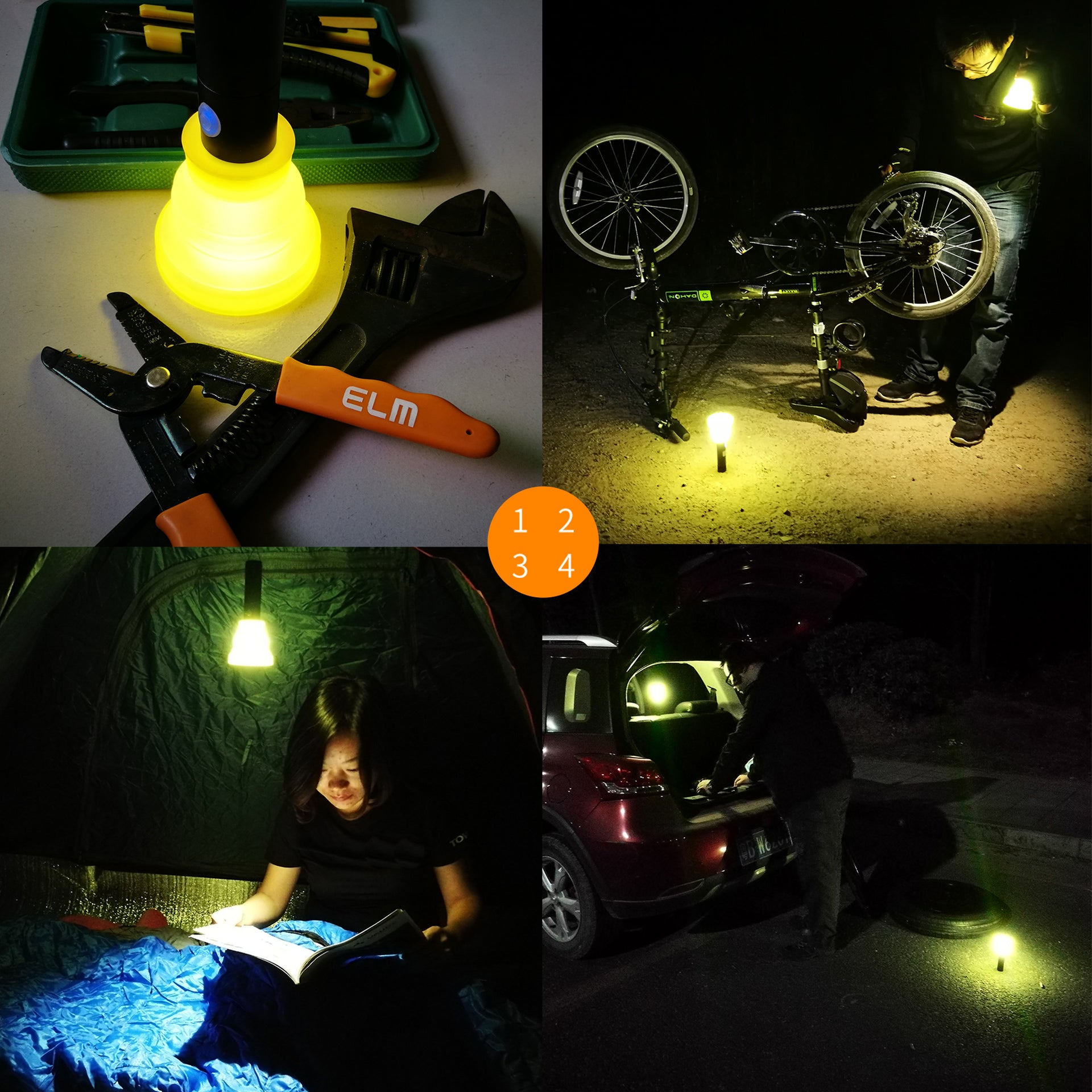 Mini 1000lm Cross Country Bicycle Headlight