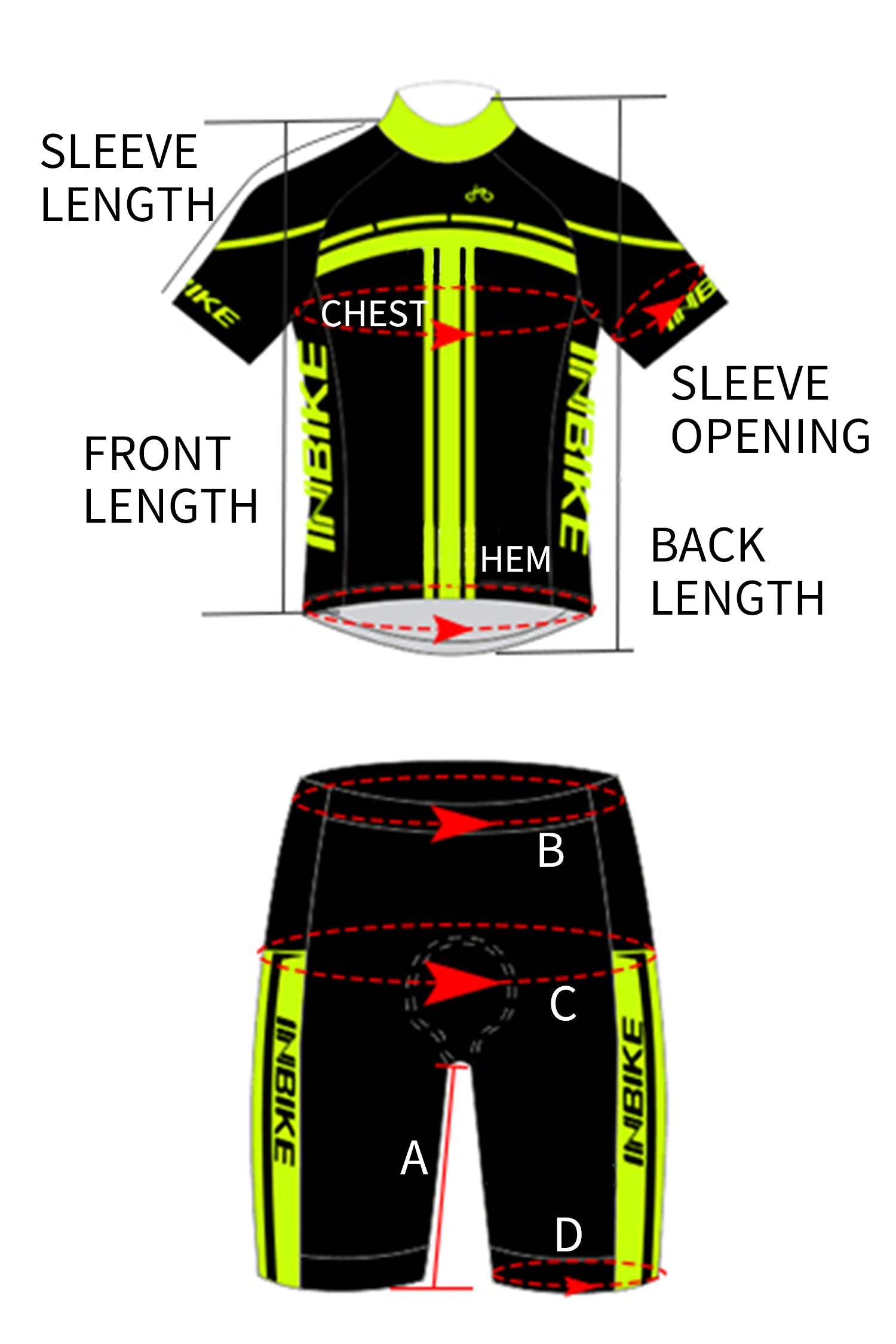 INBIKE Men Short Sleeve Cycling Jersey Set
