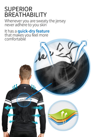INBIKE Men's Long Sleeve Cycling Suit
