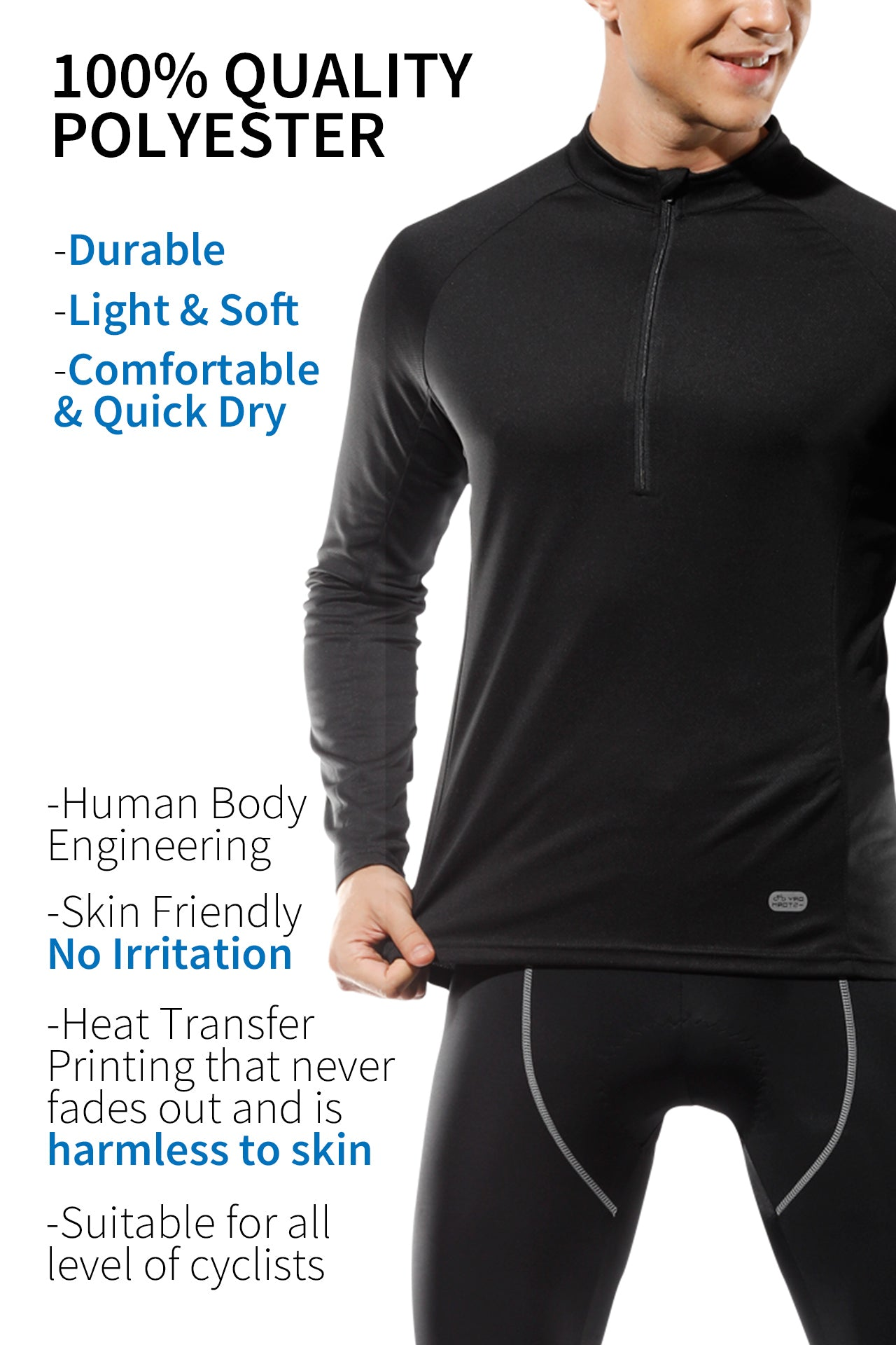 INBIKE Long Sleeve Cycling & Running Jersey