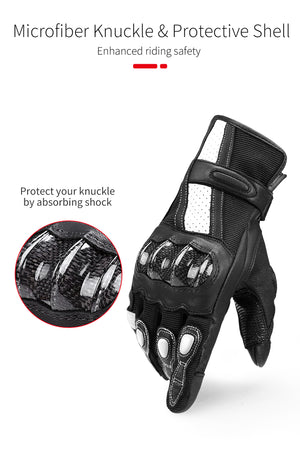 INBIKE Men & Women Motorcycle Gloves with Carbon Fiber Knuckle & Touch Screen
