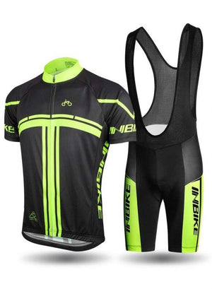 INBIKE Men Short Sleeve Cycling Jersey Bib Shorts Set