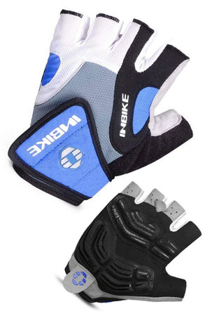 INBIKE Breathable Short Finger Bike Gloves Blue
