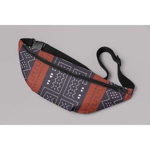 African Bogolan Mud Cloth Fanny Pack - One Size - Bags