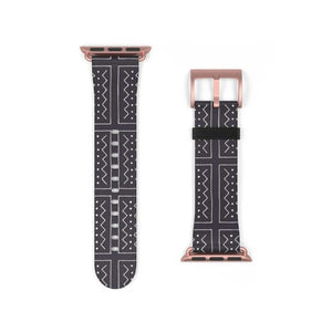 African Bogolan Mud cloth Watch Band - Accessories