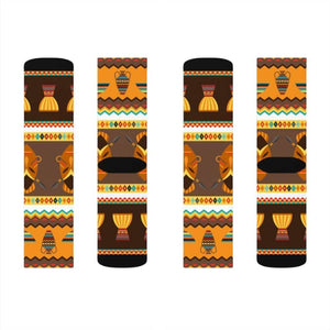 African Djembe Masks Sublimation Socks - M - All Over Prints