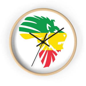 African LionHead Wall clock - 10 in / Wooden / Black - Home Decor