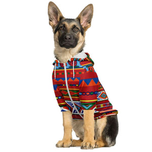 African Lotus Dog Zip-Up Hoodie - Athletic Dog Zip-Up Hoodie - AOP