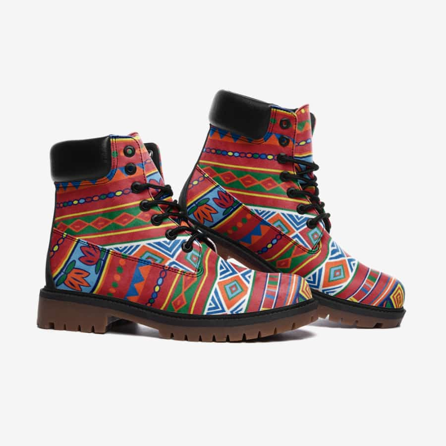 African Lotus Leather Lightweight boots TB - Men's Shoes