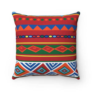 African Lotus Spun Polyester Square Pillow - 20 x 20 - Home Decor