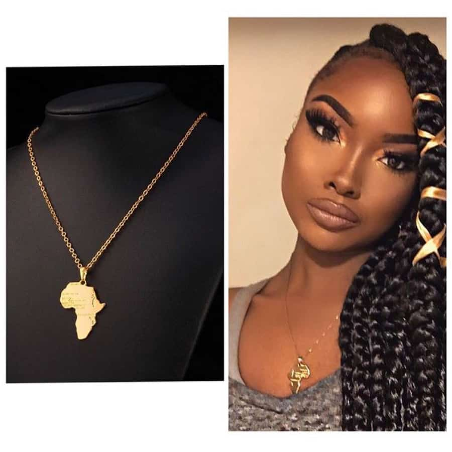 African Map Necklace Pendant Men/Women Necklace Jewelry