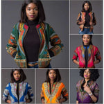 African printed short coat women - Women''s