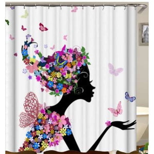 African girl digital print shower curtain - 180x200 / yl0592# - Furniture