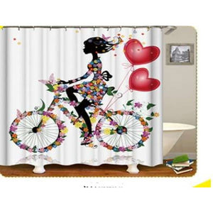 African girl digital print shower curtain - 180x180 / yl0594# - Furniture