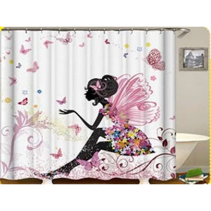 African girl digital print shower curtain - 165x180 / yl0580# - Furniture