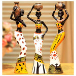 African Sculpture Doll three-piece resin crafts creative for house decoration - 3 Piece - Accessories