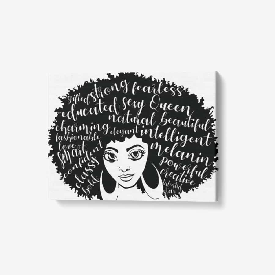 Afro Girl Canvas Wall Art - Wall art