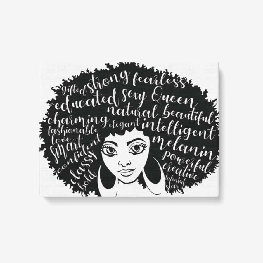 Afro Girl Canvas Wall Art - 24 x 18 / Canvas Only(rolled) - Wall art