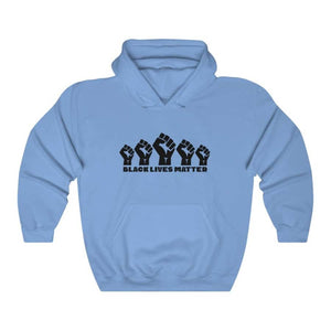 Afrocentric 5 Fists Hooded Sweatshirt - Carolina Blue / S - Hoodie