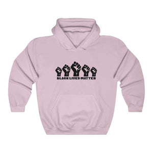 Afrocentric 5 Fists Hooded Sweatshirt - Light Pink / S - Hoodie