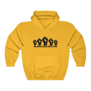 Afrocentric 5 Fists Hooded Sweatshirt - Gold / S - Hoodie