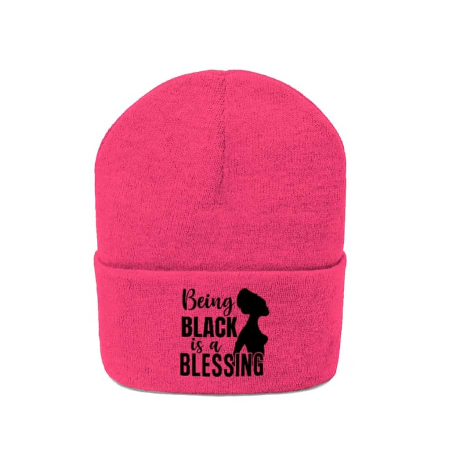 Afrocentric Being Black Is A Blessing Knit Beanie - Hats