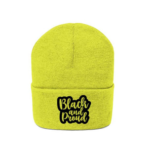 Afrocentric BLACK AND PROUD Knit Beanie - Hats