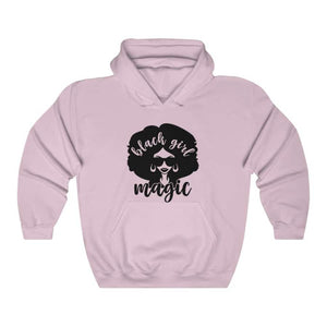 Afrocentric Black Girl Magic Hooded Sweatshirt - Light Pink / S - Hoodie
