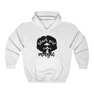 Afrocentric Black Girl Magic Hooded Sweatshirt - White / L - Hoodie