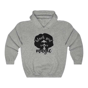 Afrocentric Black Girl Magic Hooded Sweatshirt - Sport Grey / S - Hoodie