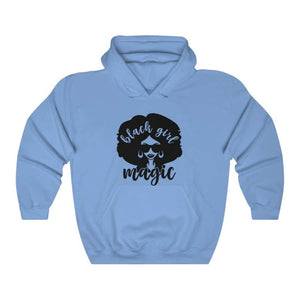 Afrocentric Black Girl Magic Hooded Sweatshirt - Carolina Blue / S - Hoodie