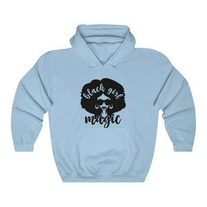 Afrocentric Black Girl Magic Hooded Sweatshirt - Light Blue / S - Hoodie