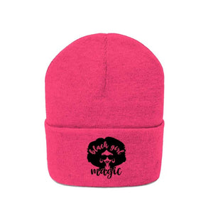 Afrocentric Black Girl Magic Knit Beanie - Hats