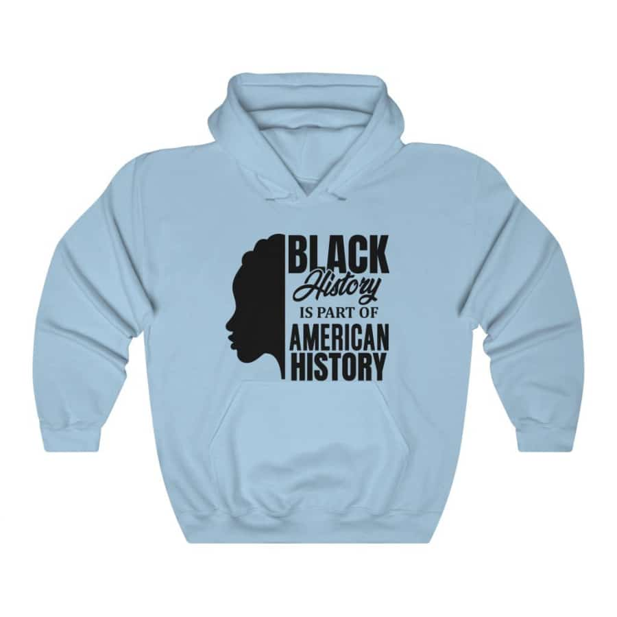 Afrocentric Black History Hooded Sweatshirt - Light Blue / S - Hoodie