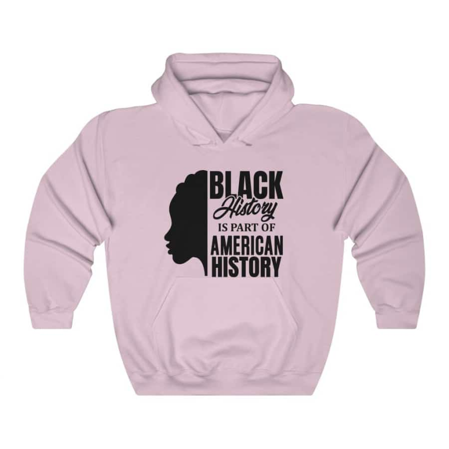 Afrocentric Black History Hooded Sweatshirt - Light Pink / S - Hoodie