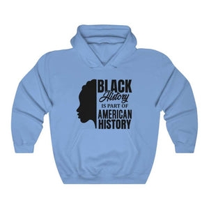 Afrocentric Black History Hooded Sweatshirt - Carolina Blue / S - Hoodie