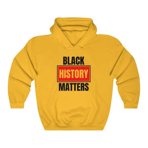 Afrocentric Black History Matters Hooded Sweatshirt - Gold / S - Hoodie