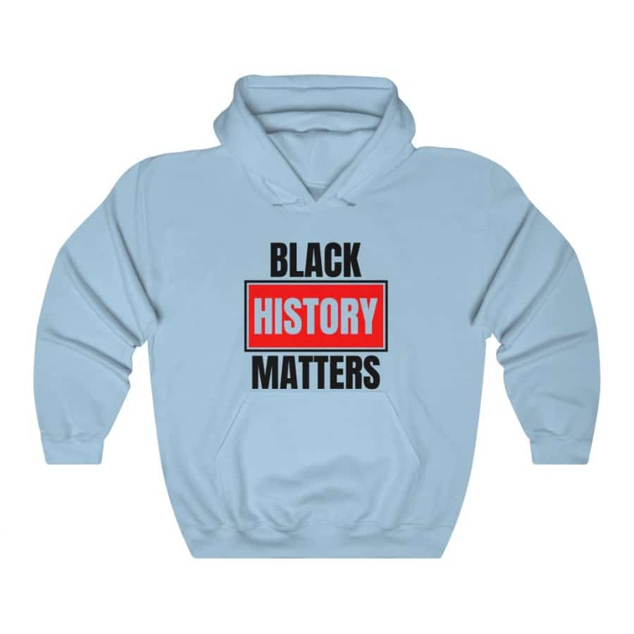 Afrocentric Black History Matters Hooded Sweatshirt - Light Blue / S - Hoodie