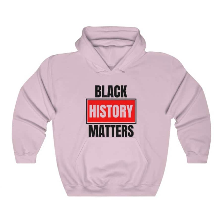 Afrocentric Black History Matters Hooded Sweatshirt - Light Pink / S - Hoodie