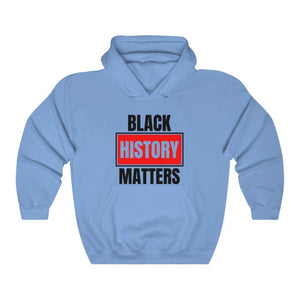 Afrocentric Black History Matters Hooded Sweatshirt - Carolina Blue / S - Hoodie