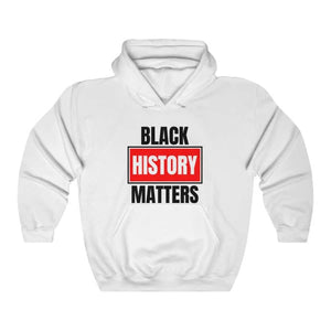 Afrocentric Black History Matters Hooded Sweatshirt - White / L - Hoodie