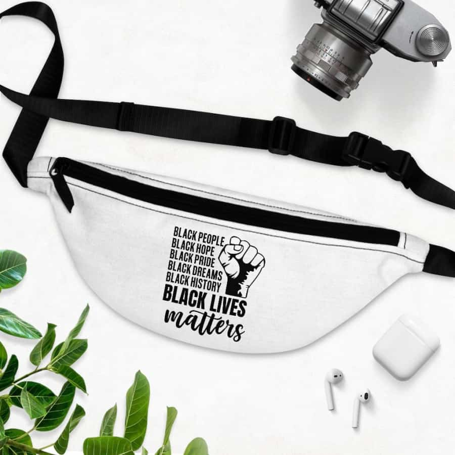 Afrocentric Black Lives Matter Fanny Pack - One Size - Bags
