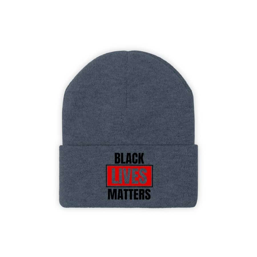 Afrocentric Black Lives Matter Knit Beanie - Millennium Blue / One size - Hats