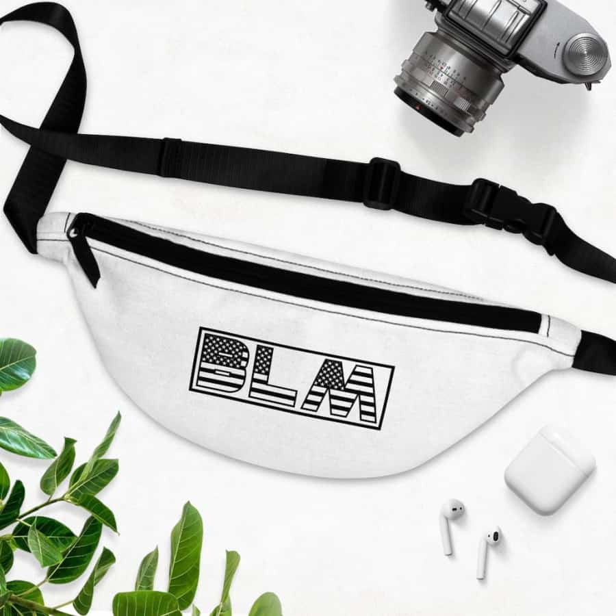Afrocentric BLM Flag Letters Fanny Pack - One Size - Bags