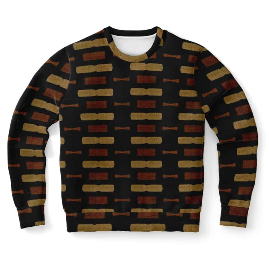 Afrocentric Bogolan Sweatshirt - S - Athletic Sweatshirt - AOP